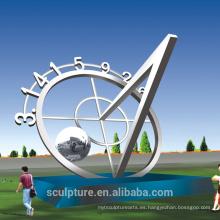 2016 Acero Inoxidable Ronda La Luna Escultura de Arte Abstracto / Estatua de Paisaje Grande Moderno