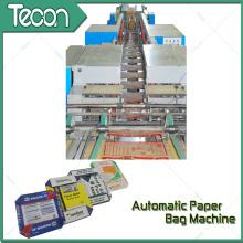 Saco de papel de impressão de quatro cores que faz a máquina