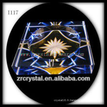K9 Cendrier en cristal avec une image gravée à la main