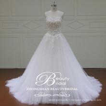 Romantic Luxury Sweetheart 2017 Alibaba Robe de mariée en longueur de thé Robe de mariée en dentelle en ligne A-Line