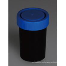 Envases negros de orina y heces, material PP, 100 ml