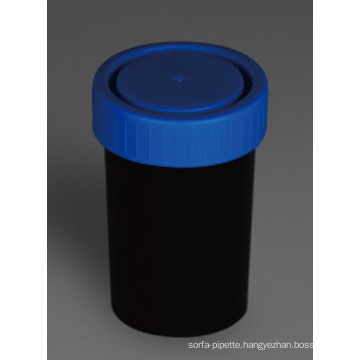 Black Urine and Stool Containers, PP Material, 100ml