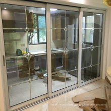 Woodwin High Quality Double Tempered Glass Thermal Break Aluminum Sliding Door