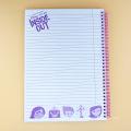 cahier à spirale a4 personnalisé pour le bureau ou l'école avec un prix raisonnable