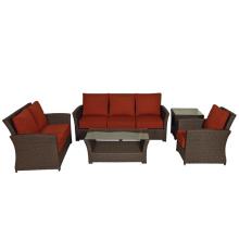 Patio Rattan Sofa Set Outdoor Garden Wicker Lounge Furniture