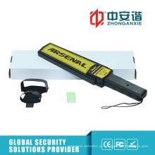 Detectores de metal portátil de alta compactação com interruptor de ajuste de sensibilidade