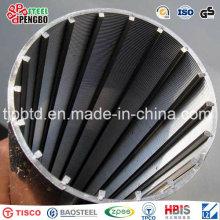 Tela de filtro de aço inoxidável envolvida fio