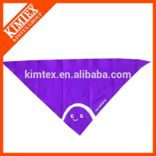 Fashion cotton cheap customized triangle printed neckwear