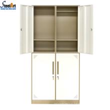 Army camp use four door steel bedroom wardrobe cabinet