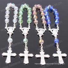 Cores diferentes 6 milímetros luz rodada grânulo jóia de cristal