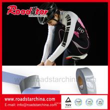 Alta plata elástico reflectante tela para ropa deportiva