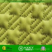Tela acolchada de patrón de rejilla de color amarillo