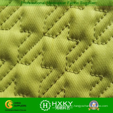 Yellow Color Grid Pattern Quilted Fabric