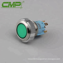 Waterproof IP67 16mm Momentary or Latching Dot LED Button Switch
