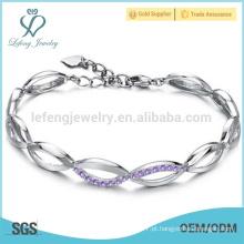 Diamond platina pulseira para as mulheres, as mulheres platina pulseiras