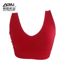 Fashion Red Seamless Women Plus Size Sports Bra
