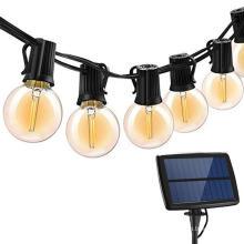 Светодиодные струнные круглые солнечные струнные светильники на открытом воздухе