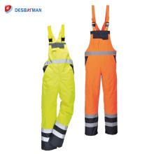 Les combinaisons réfléchissantes imperméables de costume de travail de haute visibilité portent des vêtements de travail réfléchissants de la bande EN471 des hommes
