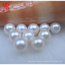 11-12mm weiße runde natürliche Süßwasserperlen