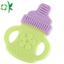 New Design Embossed With Flower Shaped Infant Teether