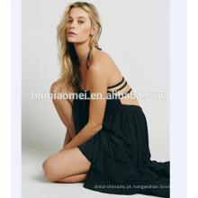 Elegante qualidade 100% algodão beachwear na moda oceano crochet maxi beach dress