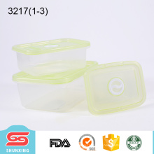plastique de qualité alimentaire garder la boîte fraîche carrés petits contenants en plastique pour la cuisine