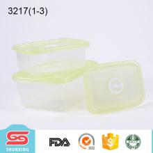 o plástico do produto comestível mantem recipientes quadrados pequenos do quadrado fresco da caixa para a cozinha