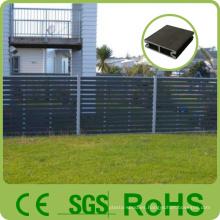Cerca de madera de aluminio modificada para requisitos particulares al por mayor del color de la fábrica, panel de madera de la cerca