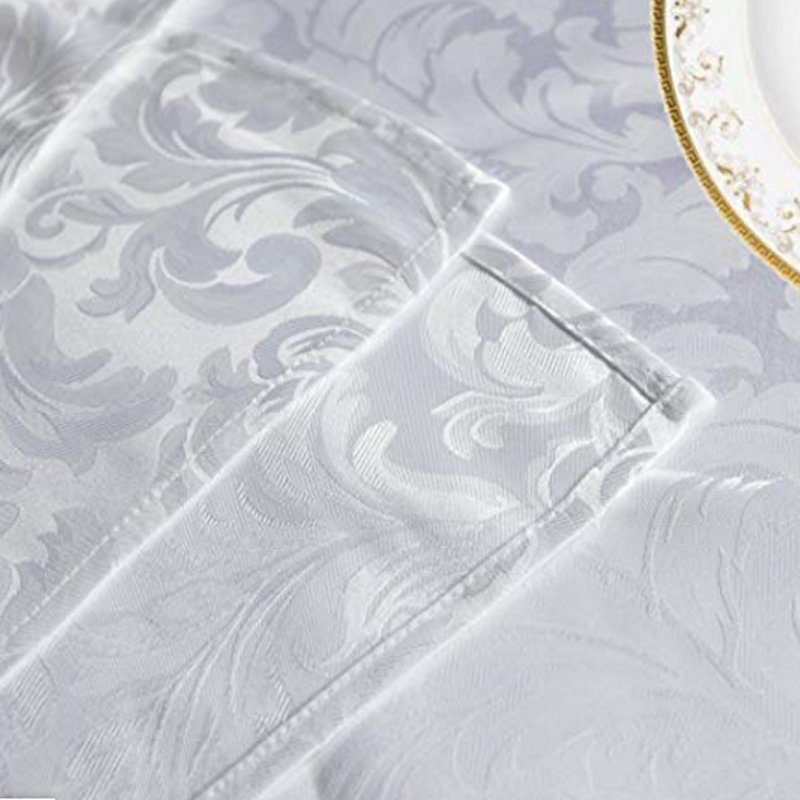 Polyester Waterproof Jacquard Tablecloth