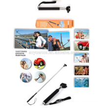 2015 hot new selfie stick with bluetooth shutter button, bluetooth selfie stick, selfie stick monopod