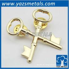 nach Maß Metallkreuz keychain Reversstift mit Vergoldung