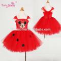 Baby Mädchen Cartoon Vestido Rot Kinder Mädchen Tutu Kleid Cute Tüll Party Geburtstag Kleid Kinder Weihnachten Kostüm
