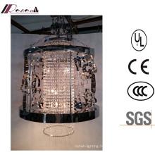 Chine Lustre en cristal accrochant creux classique en métal noir de lustre