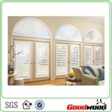 89 milímetros de madeira sólida de madeira sólida Shutters Windows (Sgd-S-6116)