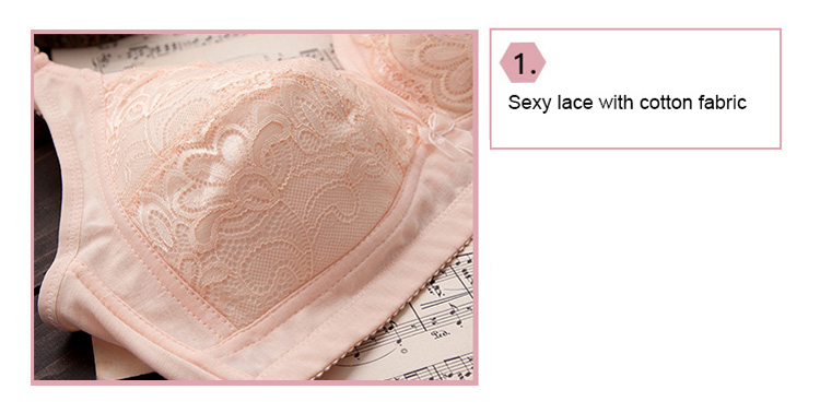Wireless lace bra-product detail