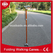 Farbe eloxiert CNC-Bearbeitung Spazierstock / Cnc bearbeitete Titan Walking Cane / hoch poliert Walking Cane