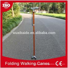 Cor anodizado cnc usinagem caminhada cana / cnc usinado titânio caminhada cana / cano alto polido andando