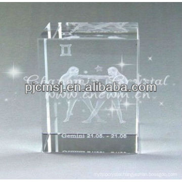 Elegant Engraved Laser Double Dancers Crystal For Home Decorations