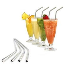 Hot selling Christmas gift 4 drinking straw+1 brush blister card packing food grade 304 Stainless steel drinking