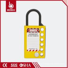 (BD-K51) Six trous meilleur prix Sécurité Aluminium Lockout Hasp, serrures à bouton-poussoir