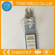 высокое качество сварочный наконечник электрода wl15 2.4*175 вольфрамовый стержень золотой