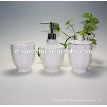 Ensembles d'accessoires de salle de bain en céramique pas cher