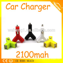 High-end dual usb car charges , car charging flashlight