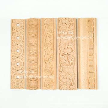 Carving wood decorative home design mouldings birch solid wood moulding