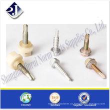 Parafuso de autoperceção de cabeça de flange Hex com borracha TS16949 ISO9001