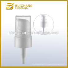 Pompe à lotion en plastique / pompe à loches crème de 20 mm / distributeur de pompe à lotions de revêtement uv avec petite surcouche en pp