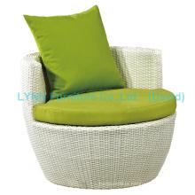 Sofá de empilhar Sofá de Rattan Branco Mobiliário de jardim