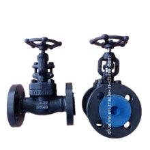 Válvula de globo del extremo de la conexión del reborde del acero de carbono forjado A105 del estruendo