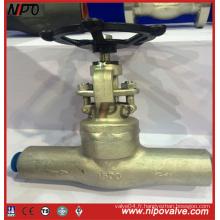 Embouchure en acier forgé soudée à l'extrémité Bw Joint de pression Globe Valve