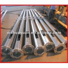 Columna de acero de revestimiento de zinc